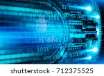 blue cyber security concept... | Shutterstock . vector #712375525