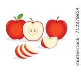 red apples. vector illustration. | Shutterstock .eps vector #712378624