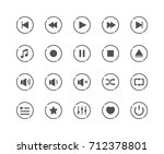 minimal set of media play... | Shutterstock .eps vector #712378801