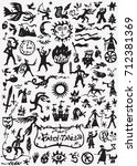 fairy tale doodles | Shutterstock .eps vector #712381369