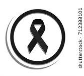 black ribbon white background... | Shutterstock .eps vector #712388101