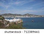 ibiza  balearic islands  spain  ... | Shutterstock . vector #712389661