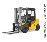 Forklift Truck Isolated On...
