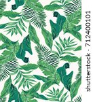 Seamless Tropical Leaves...