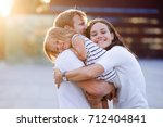 portrait of a young united... | Shutterstock . vector #712404841