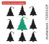 find the correct shadow of...   Shutterstock .eps vector #712411129