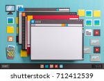 operating system computer... | Shutterstock . vector #712412539