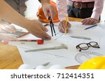 engineer and architect concept  ... | Shutterstock . vector #712414351