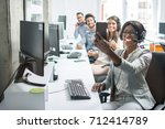 group of business people taking ...   Shutterstock . vector #712414789