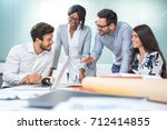 multiethnic diverse group of...   Shutterstock . vector #712414855