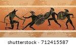 ancient greece banner. black...   Shutterstock .eps vector #712415587