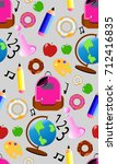cute school pattern with donuts
