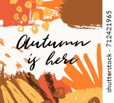 abstract autumn design with... | Shutterstock .eps vector #712421965