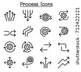 process icon set in thin line... | Shutterstock .eps vector #712422121