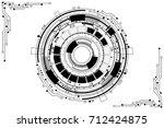 vector communication concept... | Shutterstock .eps vector #712424875