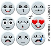 set of vector medicine pill... | Shutterstock .eps vector #712428085