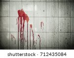 A Drop Of Blood On A Wall In A...