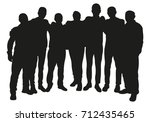 group of friendly people or... | Shutterstock .eps vector #712435465
