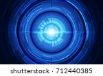 vector eye cyber security... | Shutterstock .eps vector #712440385
