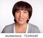 portrait happiness mature woman ... | Shutterstock . vector #71244160