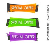 special offer sale banner for... | Shutterstock .eps vector #712445641