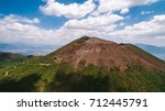 vesuvius volcano from the air | Shutterstock . vector #712445791