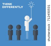 think differently   being... | Shutterstock .eps vector #712450531