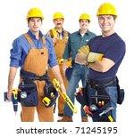industrial contractors workers... | Shutterstock . vector #71245195