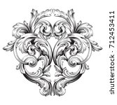 baroque vector of vintage... | Shutterstock .eps vector #712453411