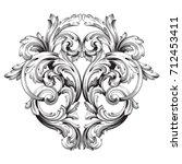 baroque vector of vintage... | Shutterstock .eps vector #712453411