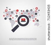 security audit  virus scanning  ... | Shutterstock .eps vector #712453435