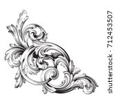 baroque vector of vintage... | Shutterstock .eps vector #712453507