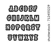set of victorian style alphabet ... | Shutterstock .eps vector #712455229