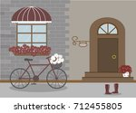 pretty scenery in a rustic... | Shutterstock .eps vector #712455805