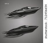 speedboat isolated illustration....   Shutterstock .eps vector #712456654