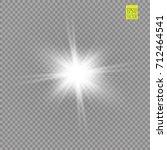 glow light effect. starburst... | Shutterstock .eps vector #712464541