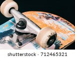Skateboard Parts On Black...
