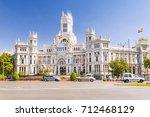 plaza cibeles in madrid  spain | Shutterstock . vector #712468129
