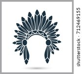 indians headwear simple icon | Shutterstock .eps vector #712469155