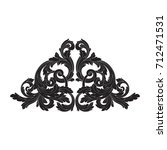 baroque vector of vintage... | Shutterstock .eps vector #712471531