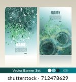 banners with geometric pattern... | Shutterstock .eps vector #712478629