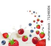 strawberry  raspberry  bilberry ... | Shutterstock .eps vector #71248306