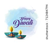 diwali or deepavali greetings... | Shutterstock .eps vector #712484794