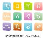 horoscope zodiac signs  vector...