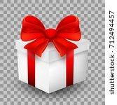 festive gift packaging  box.... | Shutterstock .eps vector #712494457