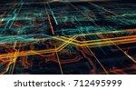 abstract technological... | Shutterstock . vector #712495999