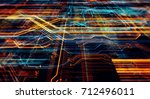 abstract technological... | Shutterstock . vector #712496011