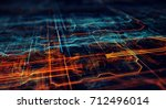abstract technological... | Shutterstock . vector #712496014