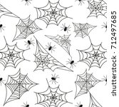 cobweb seamless pattern... | Shutterstock .eps vector #712497685