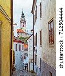 czech krumlov  czech republic   ... | Shutterstock . vector #712504444